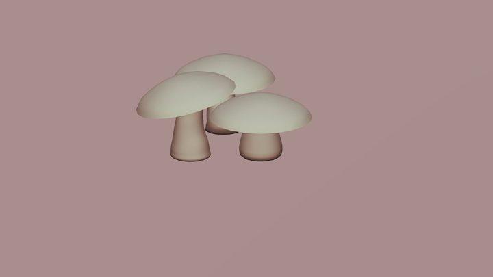 Mushrooms 3D Model