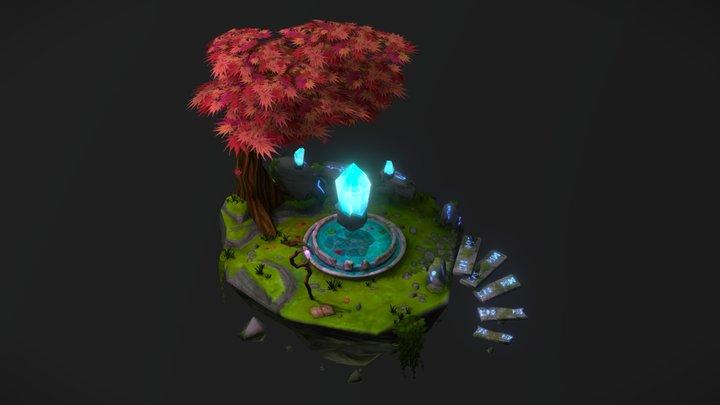 Crystal Island Diorama 3D Model