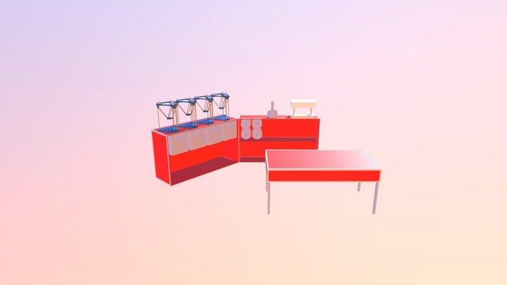 3DBox Déployée 3D Model