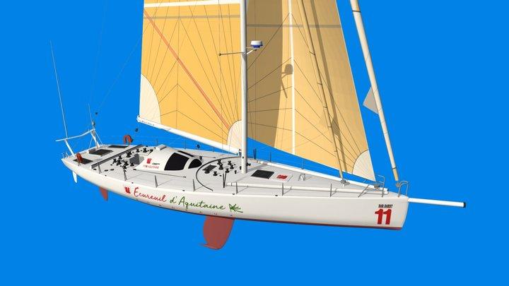 Le voilier Ecureuil d'Aquitaine 2 de T. Lamazou 3D Model