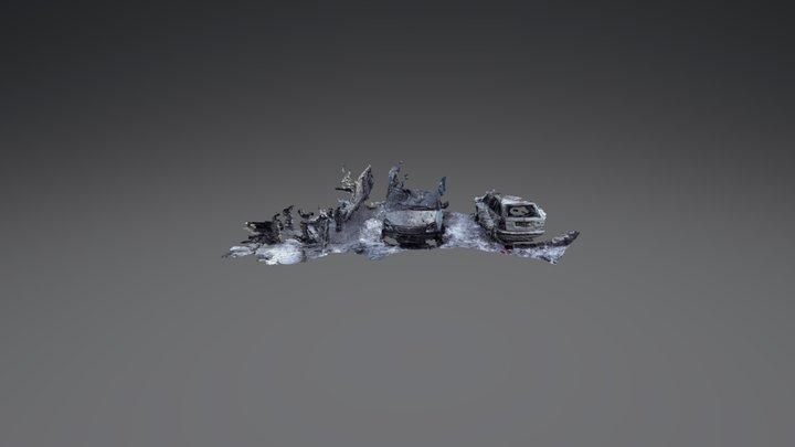 Damaged Cars 3D Model