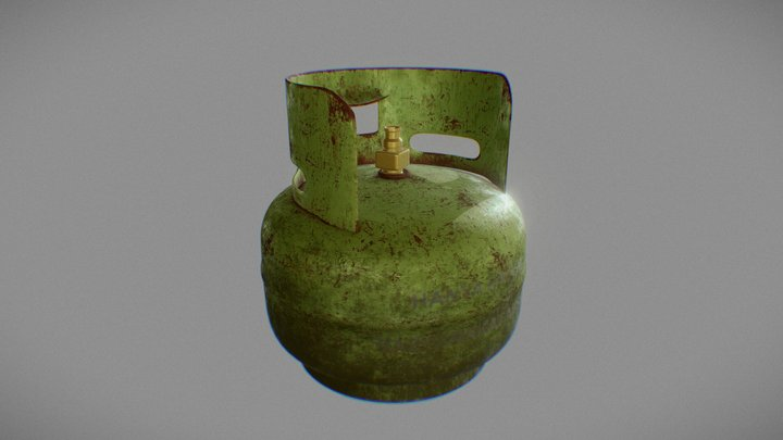 Tabung Gas 3 Kg 3D Model