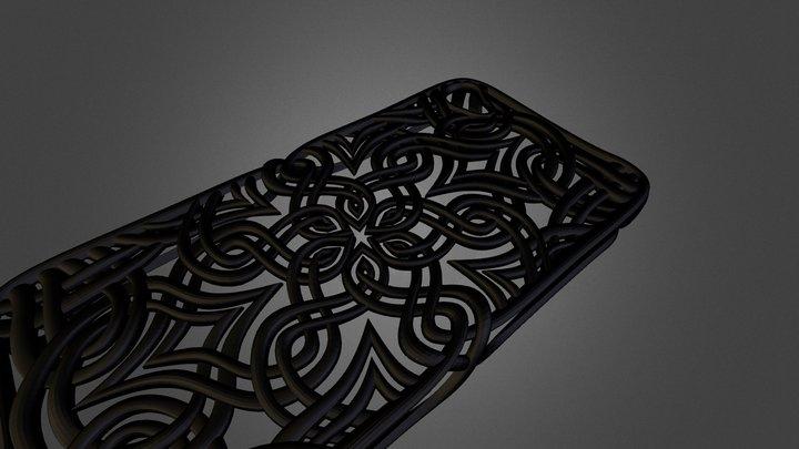 Lotus Art Case for iPhone 4 3D Model