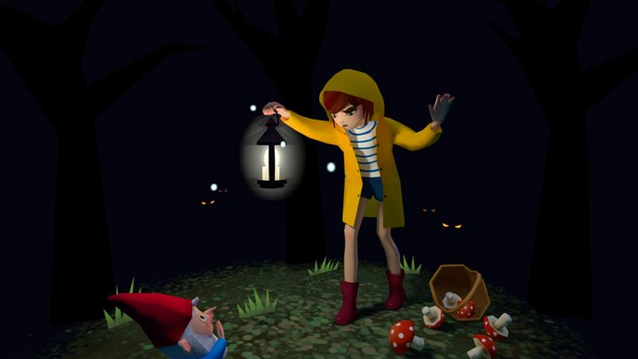 The Mushroom Collector 3D Model