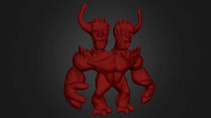 2 Head 3D Model