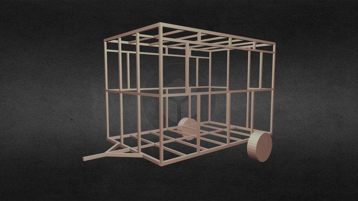 Remolque Food Truck 3D Model