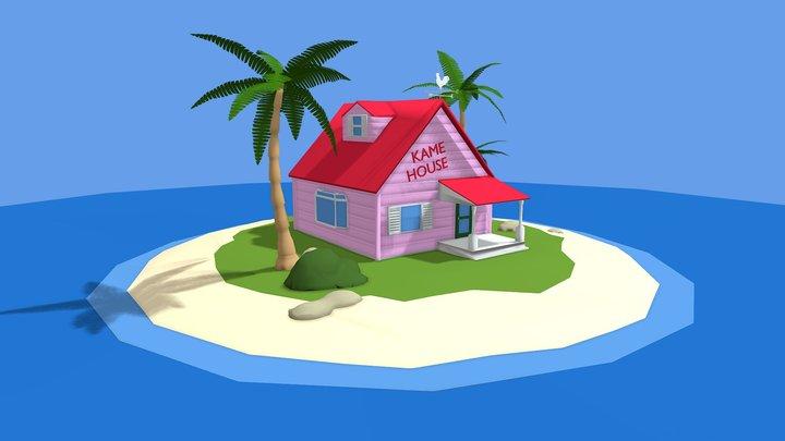 Kame Island - Low Poly 3D Model