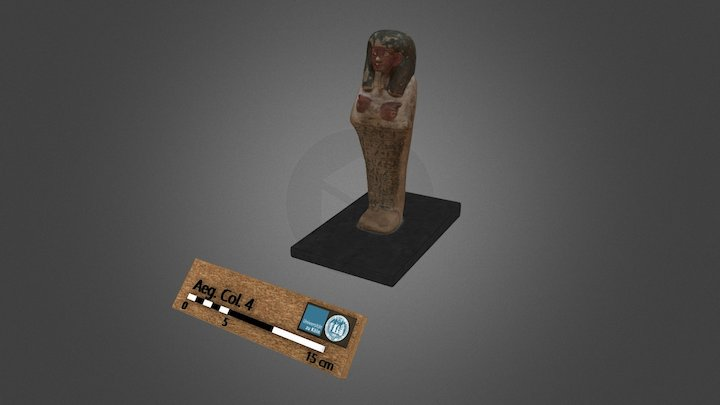 Ushabti in form of a mummy for Djehutihotep 3D Model
