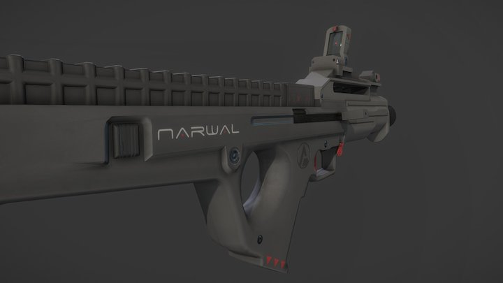 """""""Narwal"""" Smg (OUTDATED) 3D Model"""