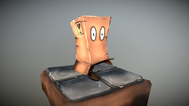 Paperbox Guy - Free 3D Character Model (Game) 3D Model
