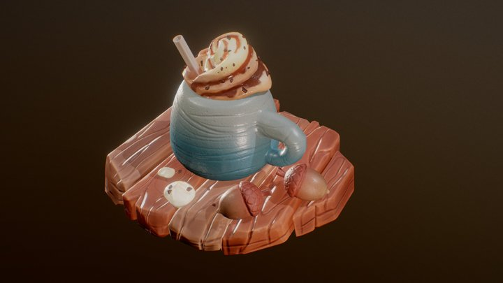 Iced irish coffee 3D Model