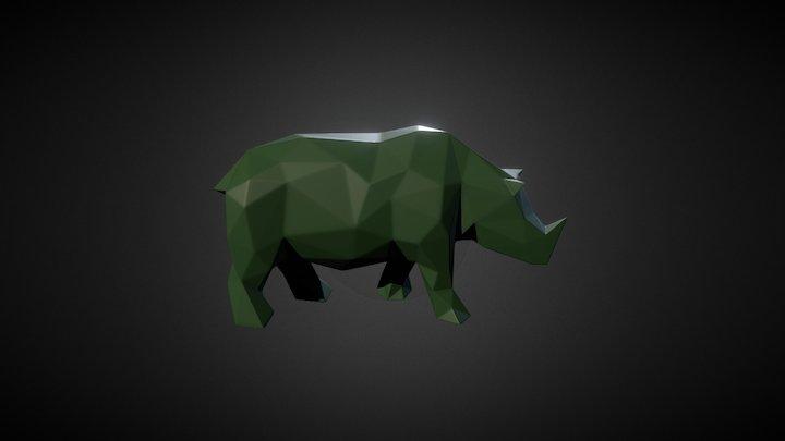 Rhino Low Poly 3D Model
