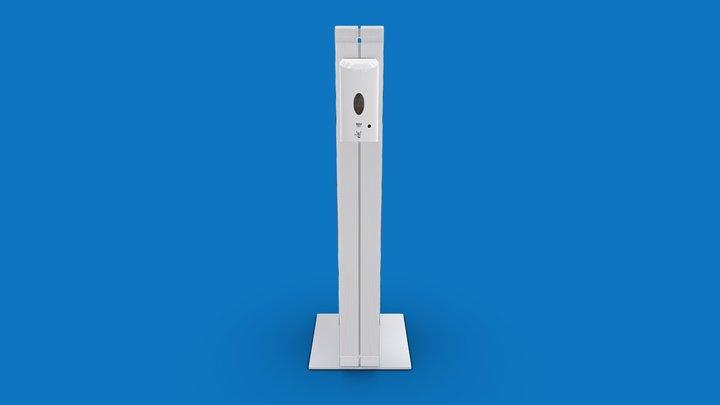 Infostele mit Desinfektions - NL-version 3D Model