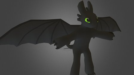 Toothless (anthro) 3D Model