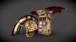 Steampunk stylized Tardis 3D Model