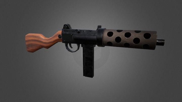 Submachine Gun WIP 3D Model