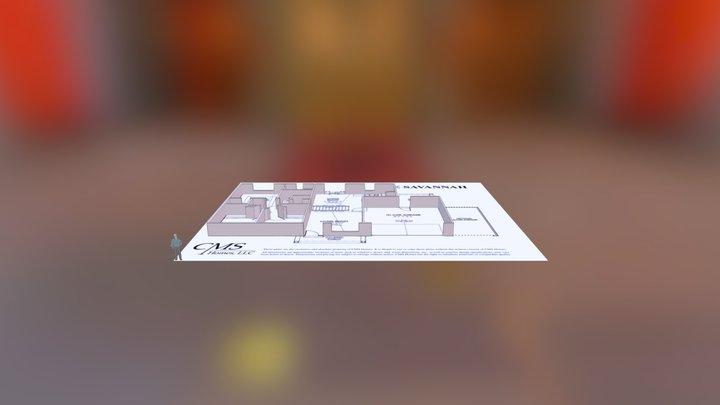 Savannah Floor Plan 3D Model
