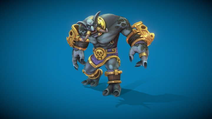World Of Warcraft Zandalari Dire Troll (FANART) 3D Model