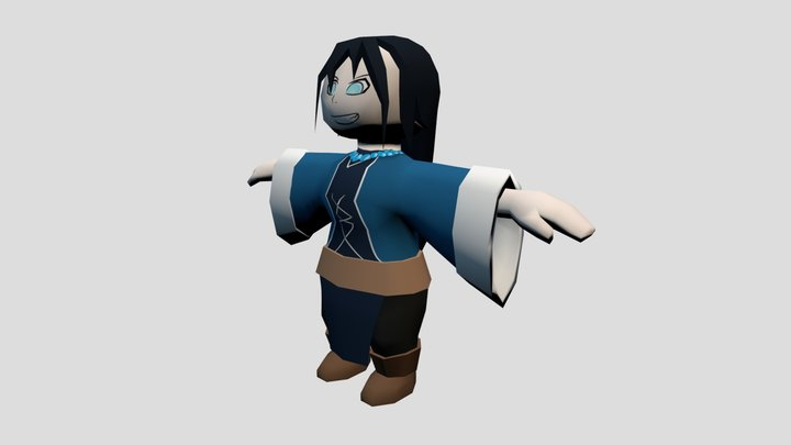 Witch Unhooded 3D Model