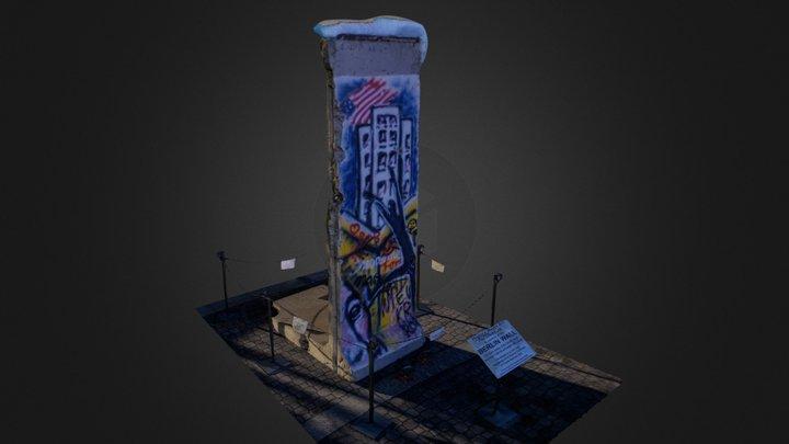 Piece of the Berlin Wall - Gwinnett GA 3D Model