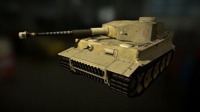 Tiger I tank 3D Model