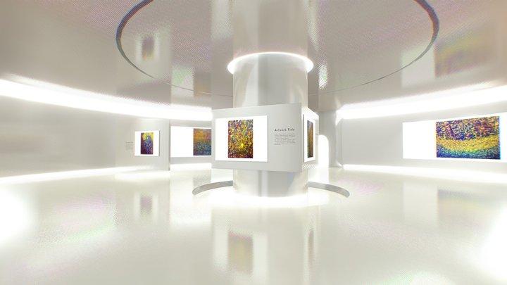 Round Little Art gallery 3D Model