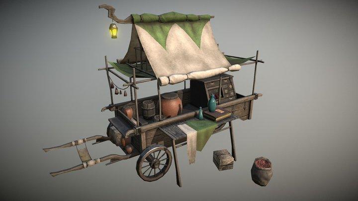Trade Wagon 3D Model