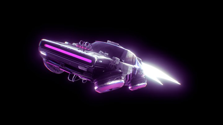 RETRO_FUTURISTIC CAR 3D Model