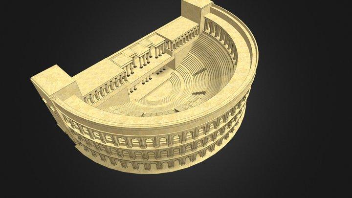 Teatro idealizado Oxirrinco 3D Model