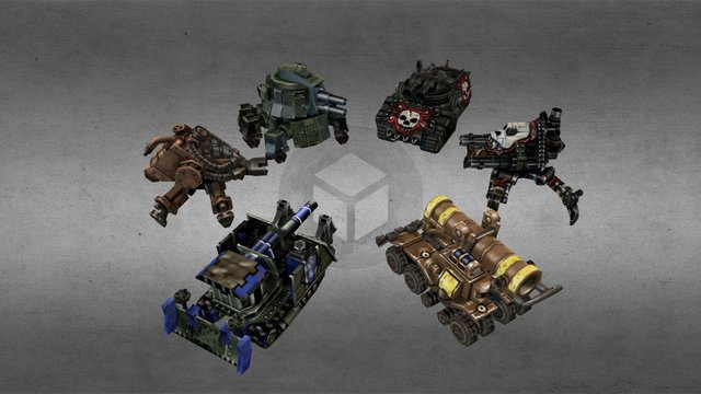 Iron Grip: Marauders - Walkers and Tanks 3D Model