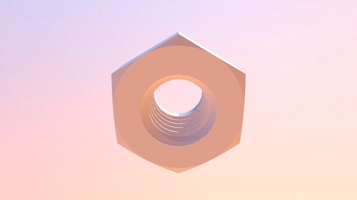Din 985 -NYLON-INSERT LOCKNUT 3D Model
