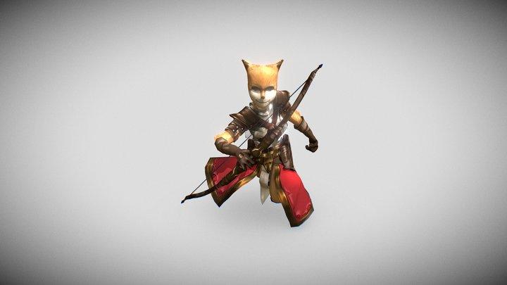 狐狸射手 3D Model