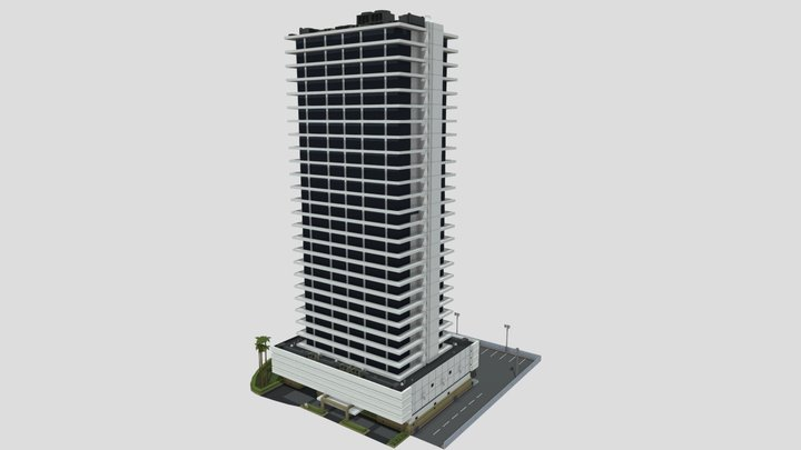 LOW POLY ECLIPSE TOWERS 3D Model
