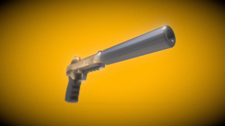 FN FNX-45 Tactical fortnite 3D Model