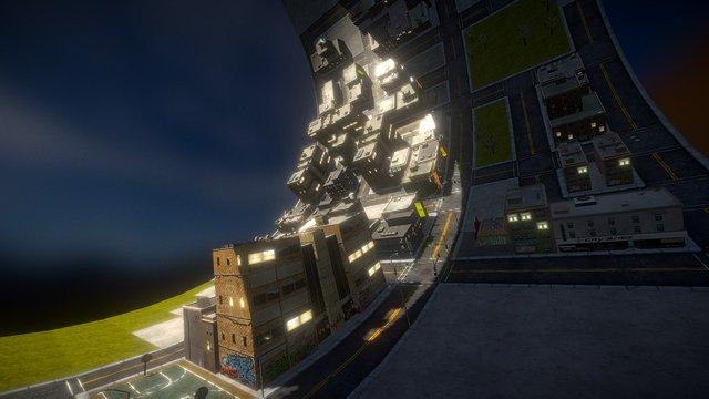 Space Loop City 3D Model