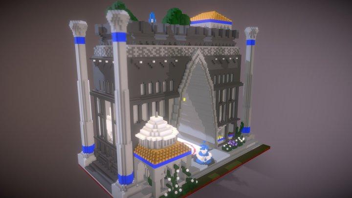 Three star Church 3D Model