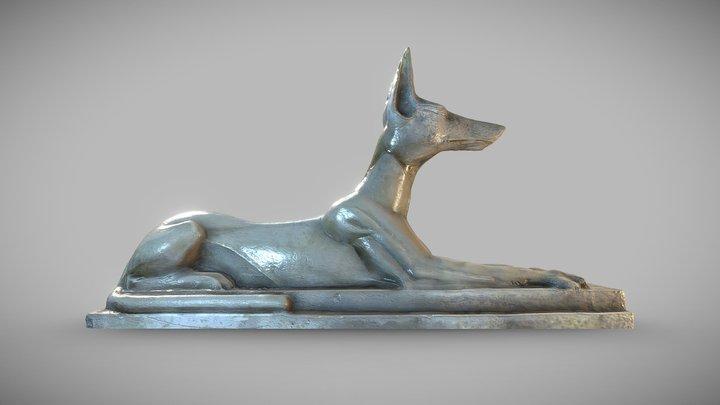 Recumbent Anubis 3D Model
