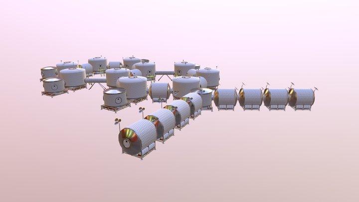 Mars Habitats 3D Model