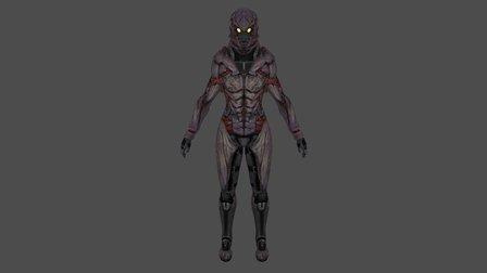 Female Shepard (Collector Armor) 3D Model