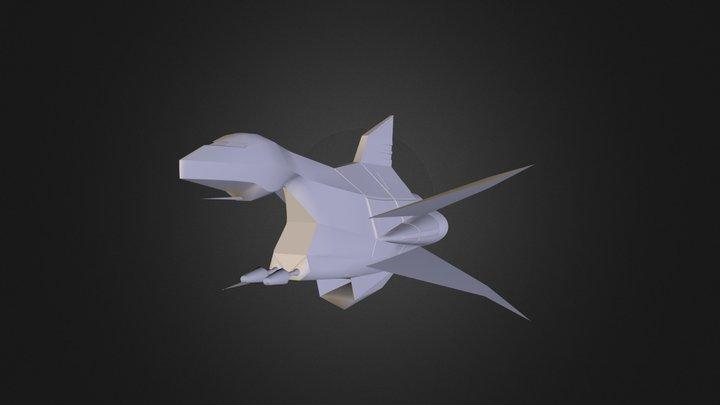Wii - Super Smash Bros Brawl - Great Fox Trophy. 3D Model