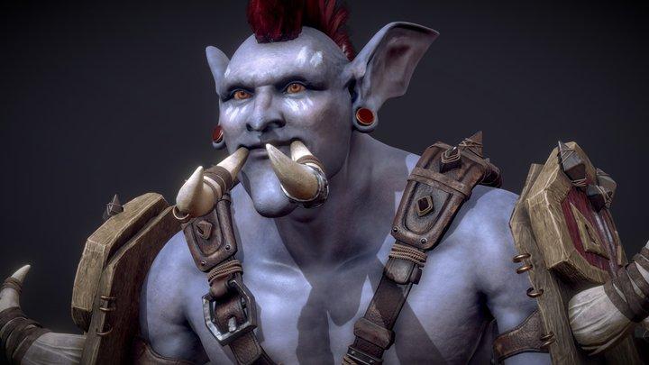 Zekhan, the Shaman Troll 3D Model