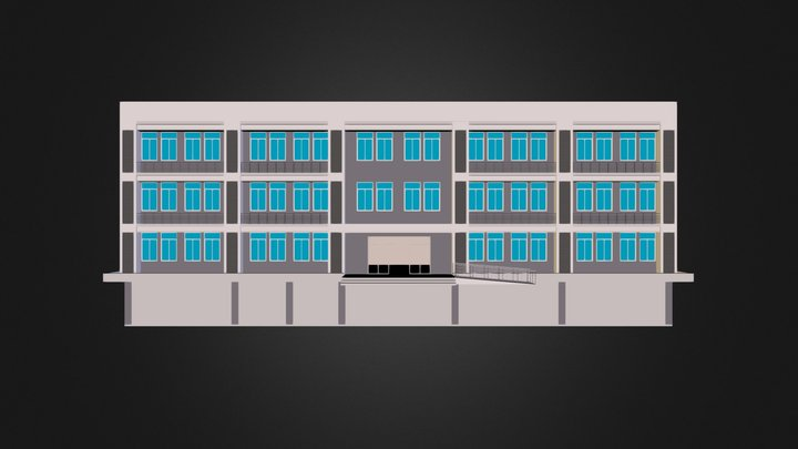 building(revit model).dae 3D Model