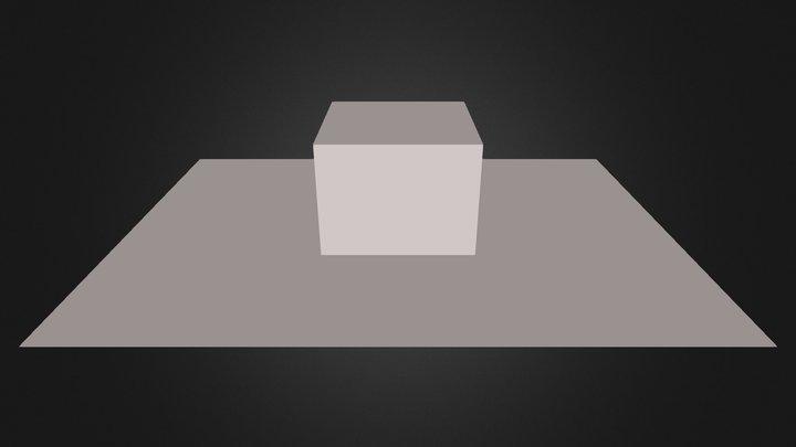 box on floor 3D Model