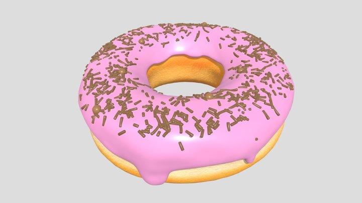 Donut with Sprinkles 3D Model