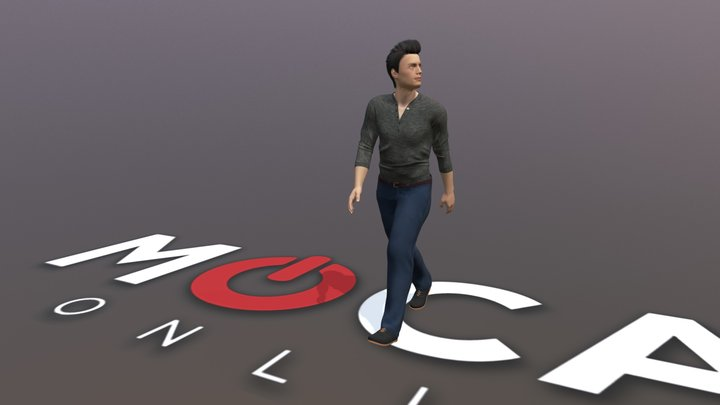 Daz3D Walks Animation - Michael 8 3D Model