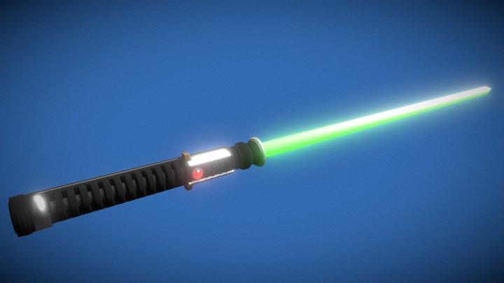 Green LightSaber - Star Wars 3D Model
