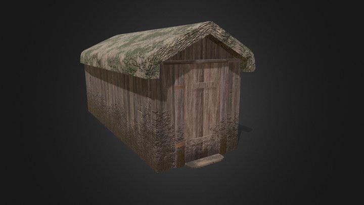 Viking Hut Type 4 - Linn Duachaill 3D Model
