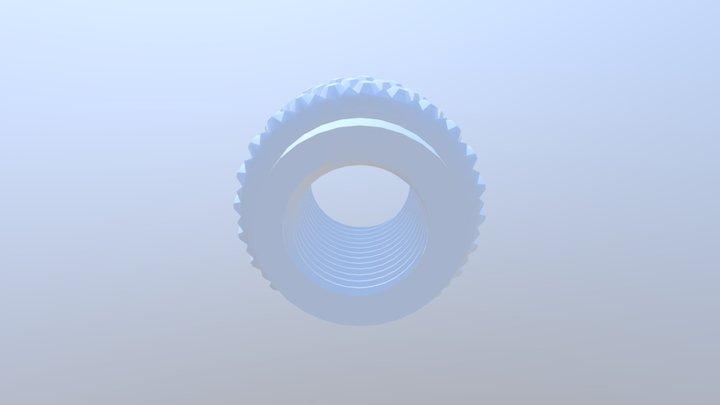 Brass Knurled Nut STL 3D Model
