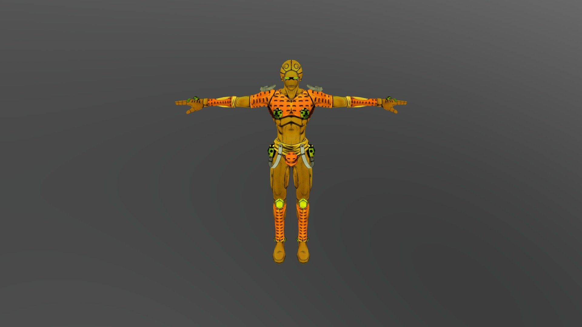 Gold Experience Download Free 3d Model By Adamryandavis007