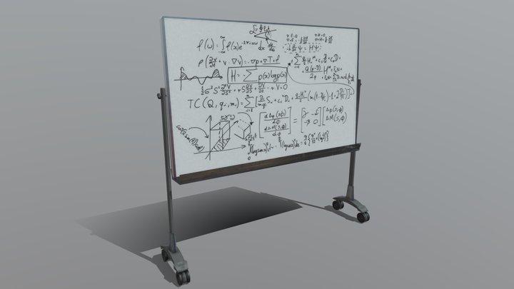 Scientific Whiteboard 3D Model
